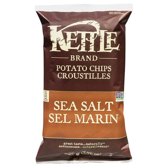 Kettle Brand Potato Chips - Sea Salt - 220g