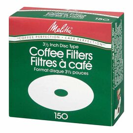 Melitta Disc Coffee Filters - White - 150's