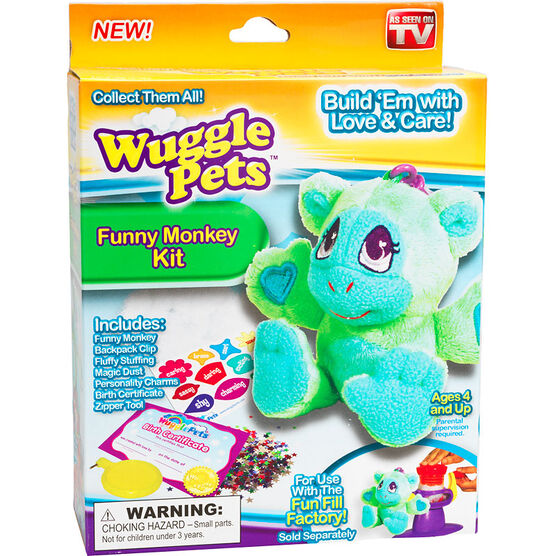 Wuggle Pets Funny Monkey Kit