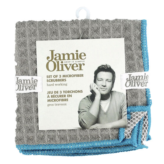 Jamie Oliver Microfiber Scrubbers Dish Cloth - Grey - 3 pack