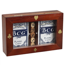 Poker Cards and Dice Gift Box