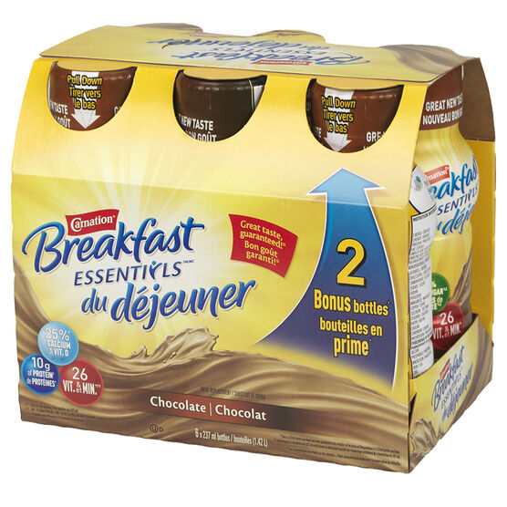 Nestle Carnation Breakfast Essentials - Chocolate - 6 x 237ml