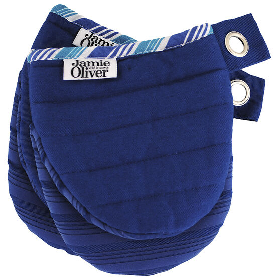 John Oliver Mini Oven Mitts - Dark Blue