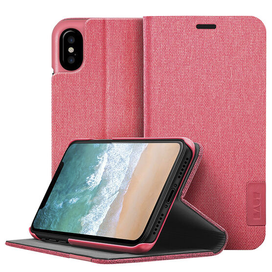 Laut Apex Knit Folio for iPhone X - Coral - LAUTIP8AKCO