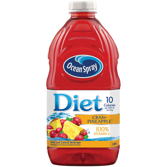 Ocean Spray Diet Cranberry & Pineapple Juice - 1.89L