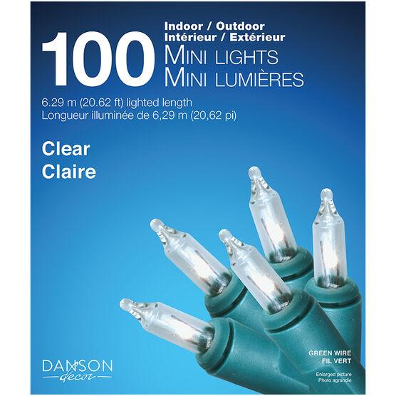 Danson Outdoor Mini Light Set - 100s - Clear - X77049MOD