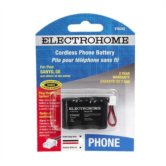 Electrohome ETA242 phone battery