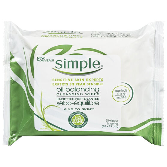 Simple Kind to Skin Oil Balancing Wipes - 25's