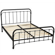 London Drugs Metal Bed Frame with Wood Slats - Queen Size