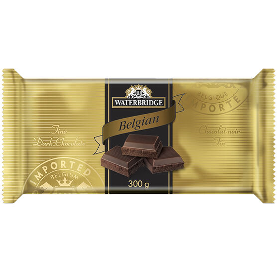 Waterbridge Chocolate Bar - Dark Chocolate - 300g