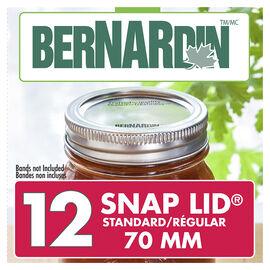 Bernardin Standard Snap Lids - 70mm - 12 pack