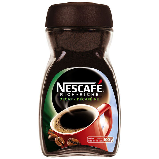 Nescafe Rich Instant Coffee - Decaffeinated - 100g