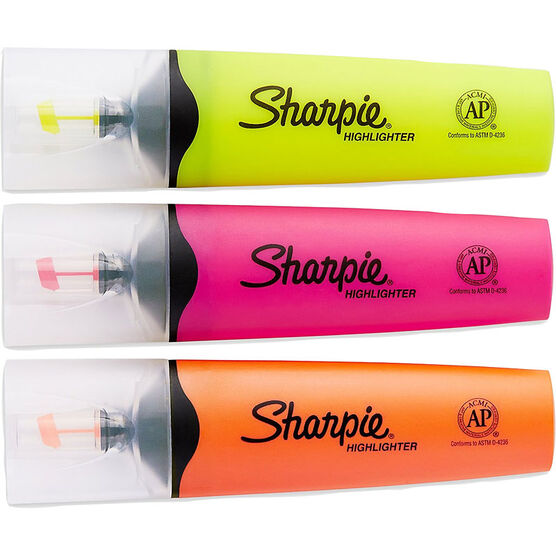 Sharpie Clear View Highlighter - 3 pack - Assorted