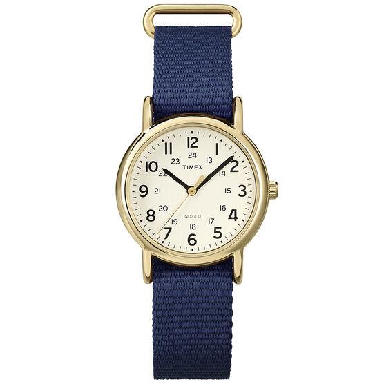 Timex Weekender Fashion Watch - Cream/Blue - T2P475GP