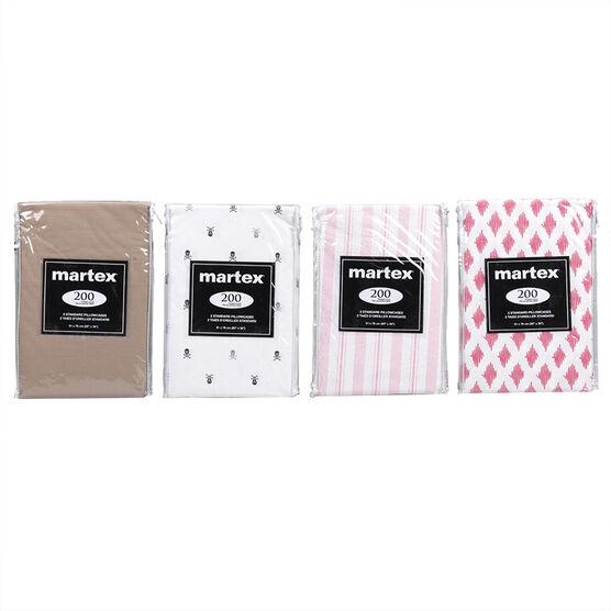 Martex Pillow Cases - Assorted - Standard