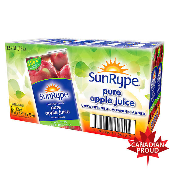 Sun-Rype Apple Juice Case - 12x1L