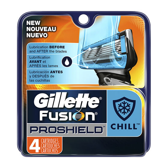Gillette Fusion Proshield Cartridges - Chill - 4's