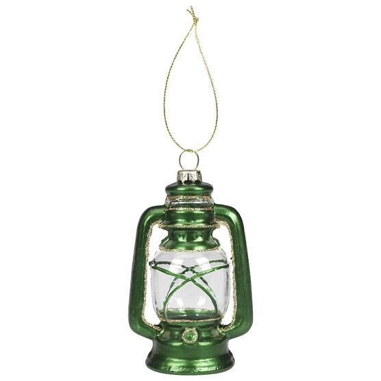 Christmas Tartan Lantern Ornament - 4.7in