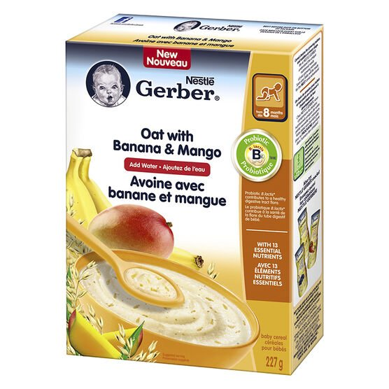Gerber Oat with Banana and Mango Cereal - 227g