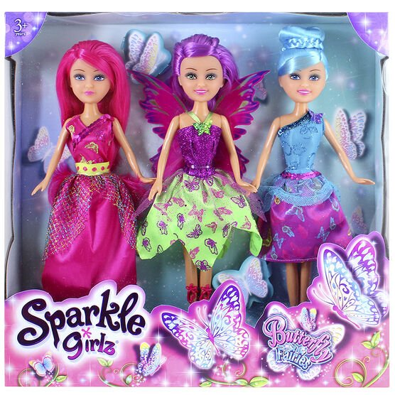 Sparkle Girls - Butterfly Fairies - Assorted - Set of 3