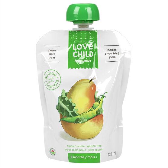 Love Child Pears Kale Peas - 128ml