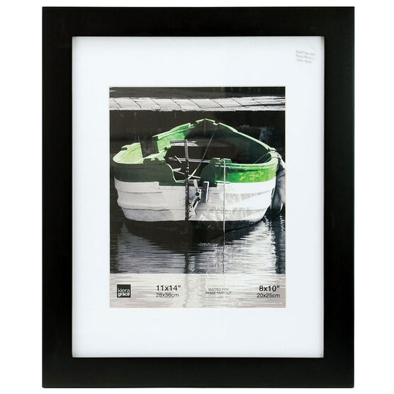 KG Langford Black Wood Frame - 11x14-Inch Matted for 8x10-Inch