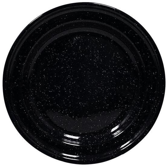 Enamel Camping Plate - Black - 10in