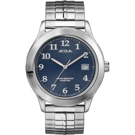 Timex Acqua Full Size Expansion Watch - Silver/Blue