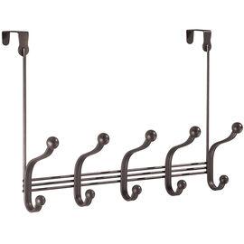 InterDesign York Over the Door 5 Hook Rack - Bronze