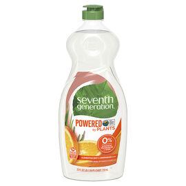 Seventh Generation Natural Dish Liquid - Lemongrass & Clementine Zest - 739ml
