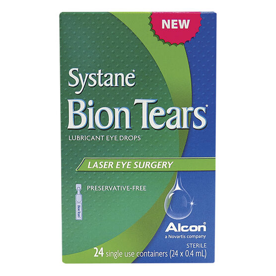 Systane Bion Tears Lubricant Eye Drops - Laser Eye Surgery - 24 x 0.4ml