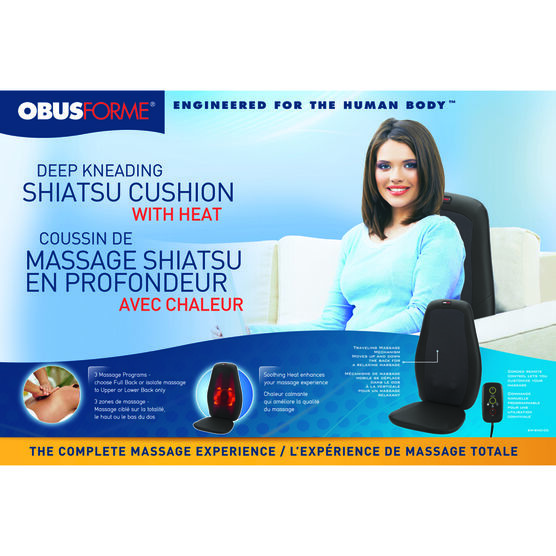 ObusForme Deep Kneading Shiatsu Cushion with Heat- SM-SMC-05