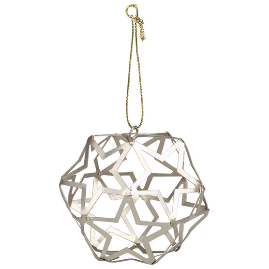 Christmas Cut Out Ball Ornament - Gold - 8cm