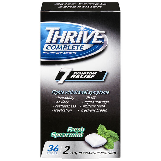 Thrive Complete 2mg Nicotine Replacement Gum - Spearmint - 36's