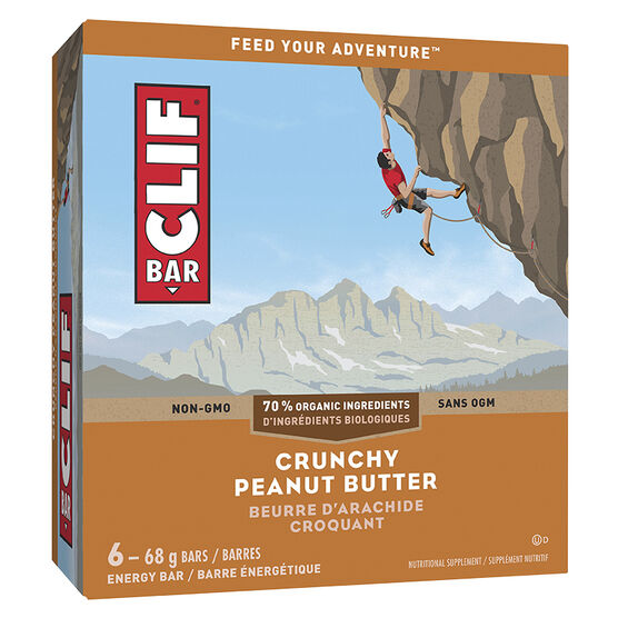 Clif Bar Crunch - Peanut Butter - 6 x 68g