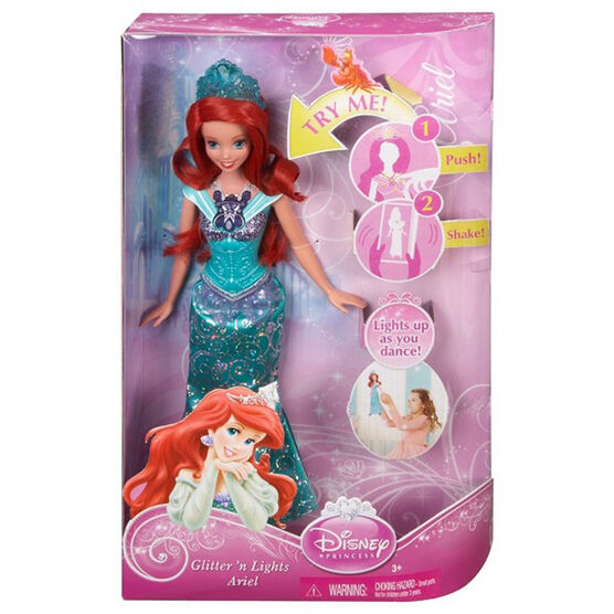 Disney Princess Glitter 'n Lights Doll - Assorted
