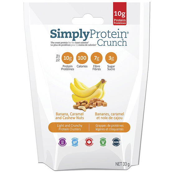 SimplyProtein Crunch - Banana Caramel and Cashew Nuts - 33g