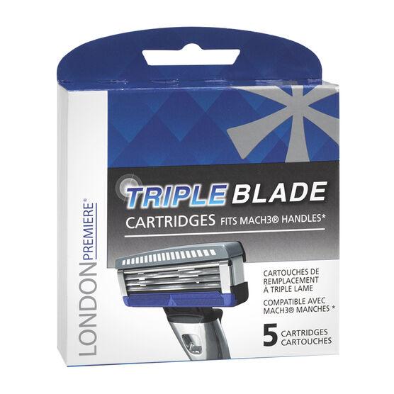 London Premiere Triple Blade Cartridges for Mach3 Handles - 3's