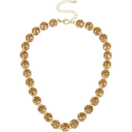 Haskell Crystal Necklace - Light Colorado/Gold
