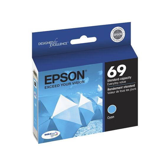 Epson Durabrite Ultra Ink 69 Standard-Capacity Ink Cartridge - Cyan - T069220-S
