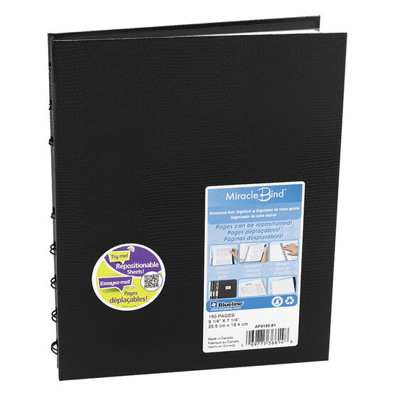 Blueline MiracleBind Coil Notebook - Black