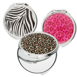 Danielle Safari Round Compact Mirror - Assorted