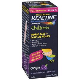 Reactine Allergy Children's Liquid - Grape - 118ml