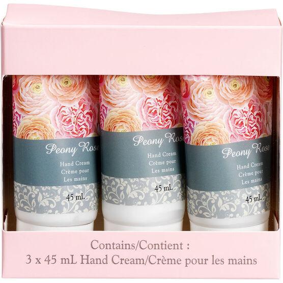 Peony Rose Hand Cream Set - 3 x 45ml