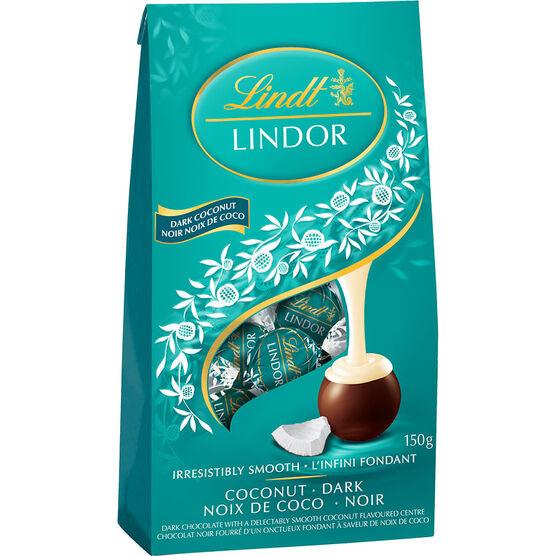 Lindt Lindor Bag - Dark Chocolate Coconut - 150g