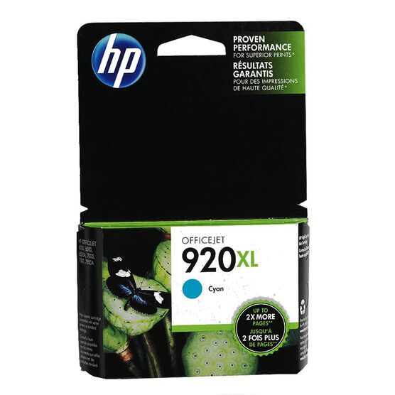 HP 920XL Ink Cartridge - Cyan