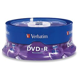 Verbatim DVD+R 4.7GB 16X Spindle - 25 pack