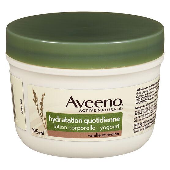 Aveeno Active Naturals Daily Moisturizing Body Yogurt Lotion - Vanilla and Oats - 195ml