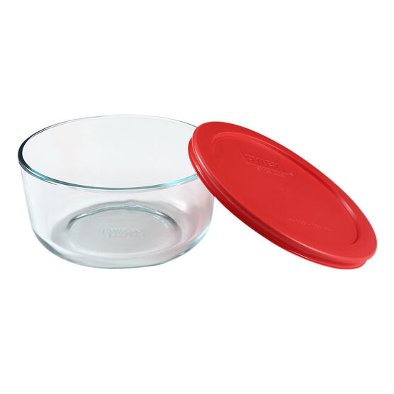 Pyrex Storage with Red Lid - Round - 4 cup