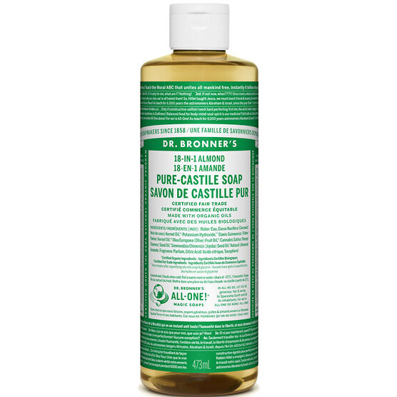 Dr. Bronner's 18-IN-1 Pure-Castile Liquid Soap - Almond - 473ml